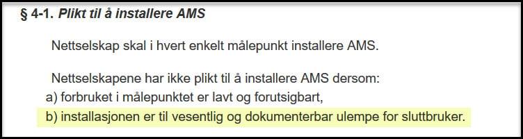 § 4-1 plikt til å installere ams