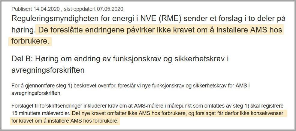 AMS gjelder ikke for forbrukerne