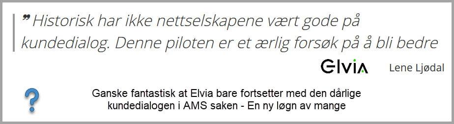 Elvia budskap på dårlig kundedialog