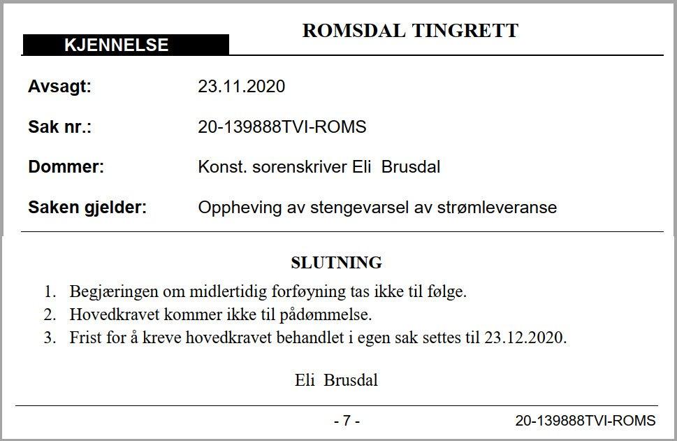 Romsdal tingrett